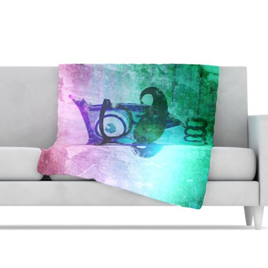 KESS InHouse Showly Microfiber Fleece Throw Blanket