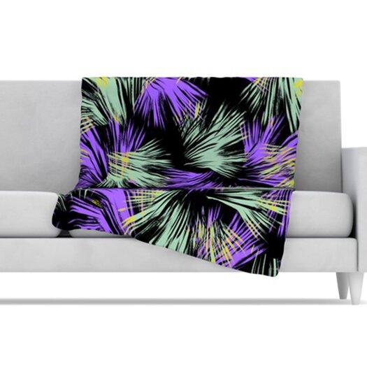 KESS InHouse Tropical Fun Microfiber Fleece Throw Blanket