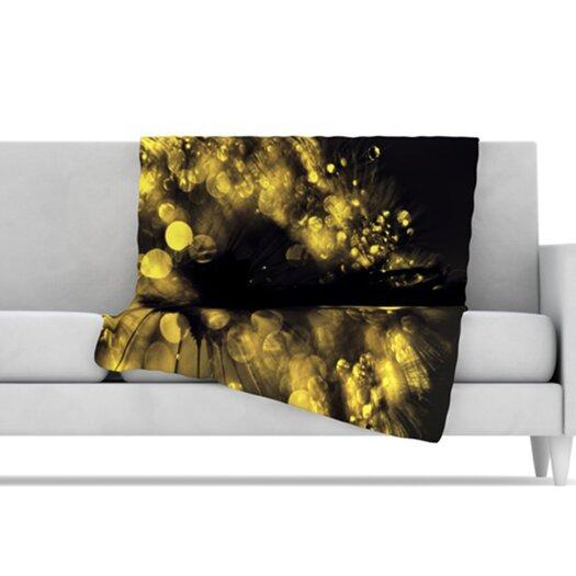 KESS InHouse Moonlight Dandelion Microfiber Fleece Throw Blanket