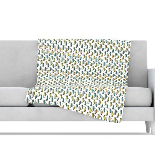 KESS InHouse Spring Stem Microfiber Fleece Throw Blanket