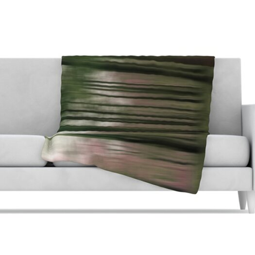 KESS InHouse Forest Blur Microfiber Fleece Throw Blanket