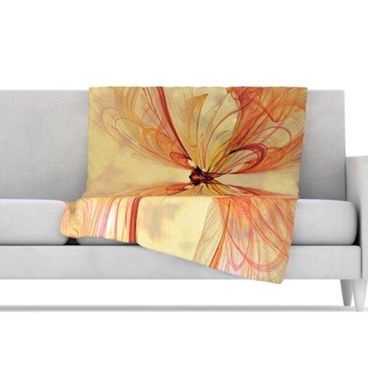 KESS InHouse Papillion Microfiber Fleece Throw Blanket