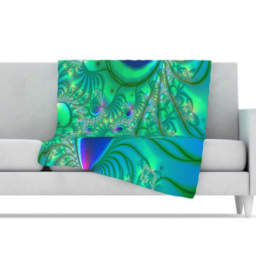 KESS InHouse Fractal Microfiber Fleece Throw Blanket