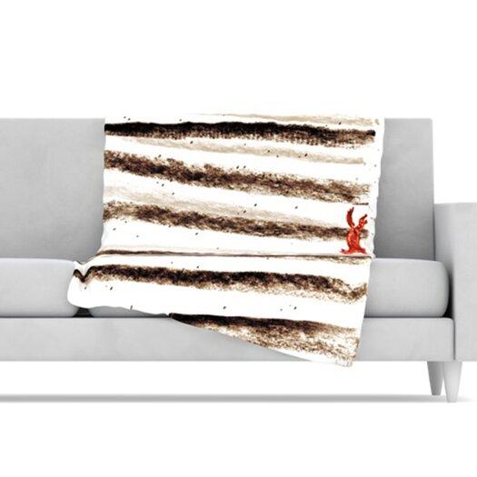 KESS InHouse Run and Roam Microfiber Fleece Throw Blanket