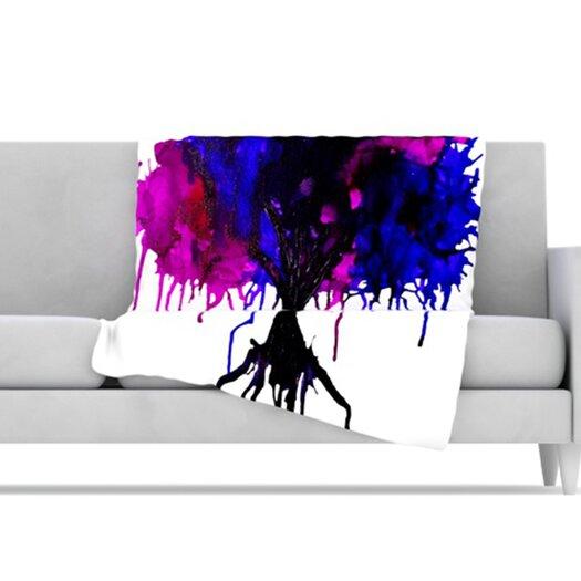 KESS InHouse Weeping Willow Microfiber Fleece Throw Blanket