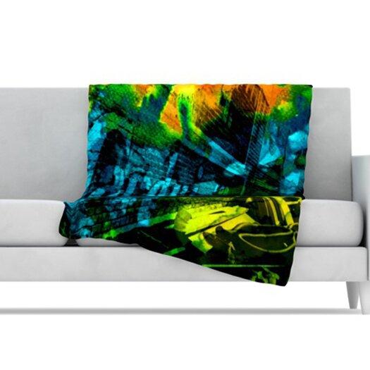 KESS InHouse Radford Microfiber Fleece Throw Blanket
