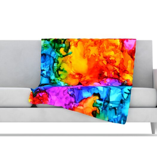 KESS InHouse Sweet Sour II Microfiber Fleece Throw Blanket