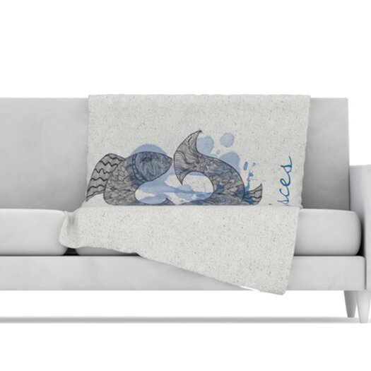 KESS InHouse Pisces Microfiber Fleece Throw Blanket