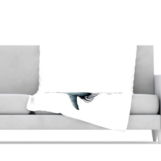 KESS InHouse Shark Record Microfiber Fleece Throw Blanket
