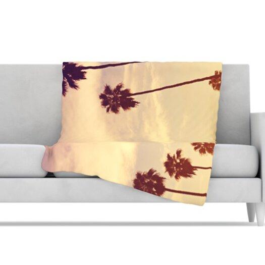 KESS InHouse Endless Summer Microfiber Fleece Throw Blanket