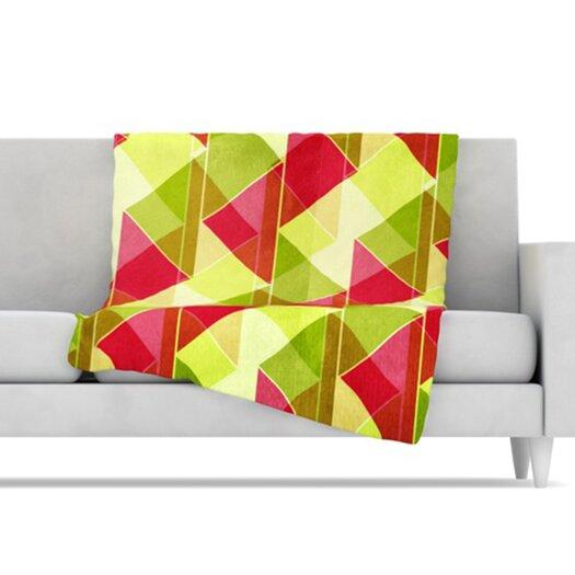 KESS InHouse Palm Beach Microfiber Fleece Throw Blanket