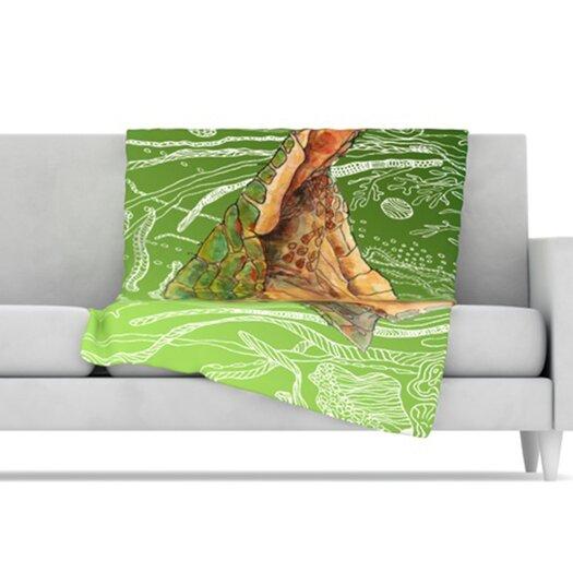 KESS InHouse Shelley Microfiber Fleece Throw Blanket