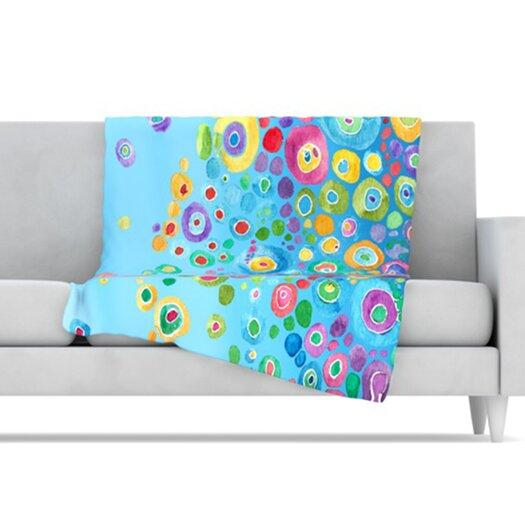 KESS InHouse Inner Circle Microfiber Fleece Throw Blanket