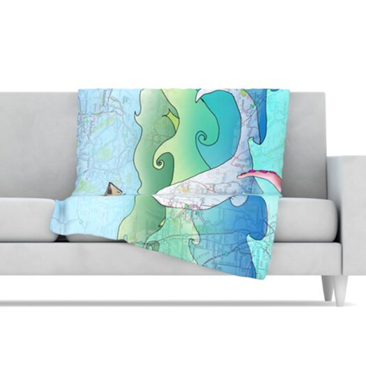 KESS InHouse I'm on a Boat Microfiber Fleece Throw Blanket