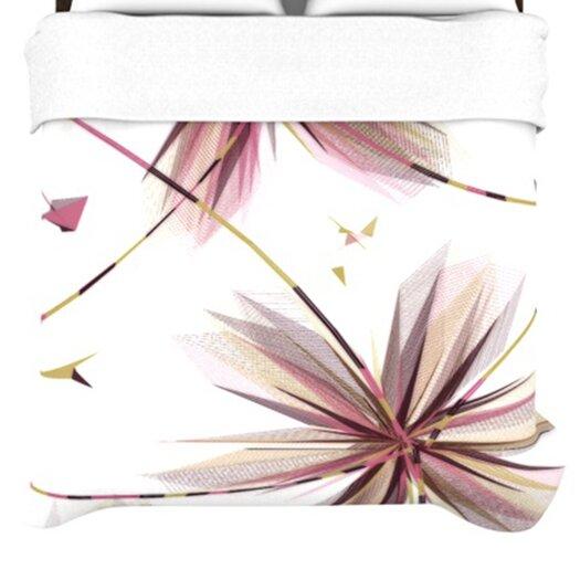 """KESS InHouse """"Flower"""" Woven Comforter Duvet Cover"""