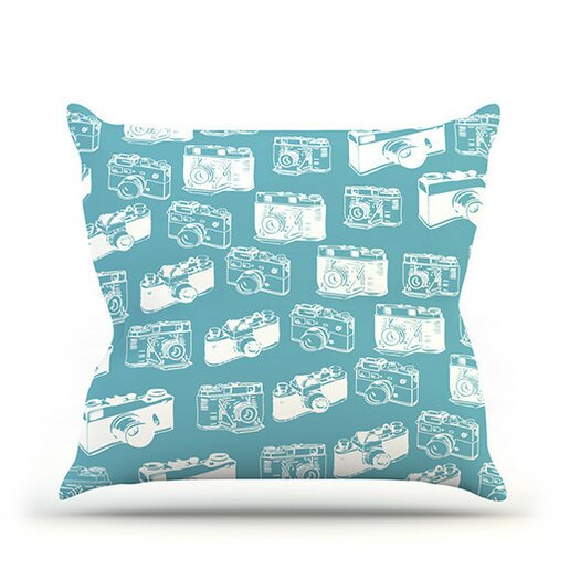 KESS InHouse Camera Pattern Throw Pillow