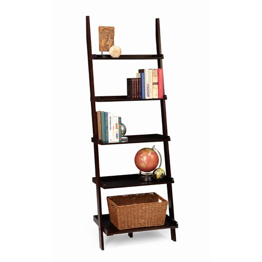 """Convenience Concepts American Heritage Ladder 72"""" Bookcase"""