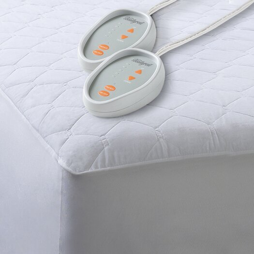 Simmons Beautyrest Cotton Blend Heated Mattress Pad