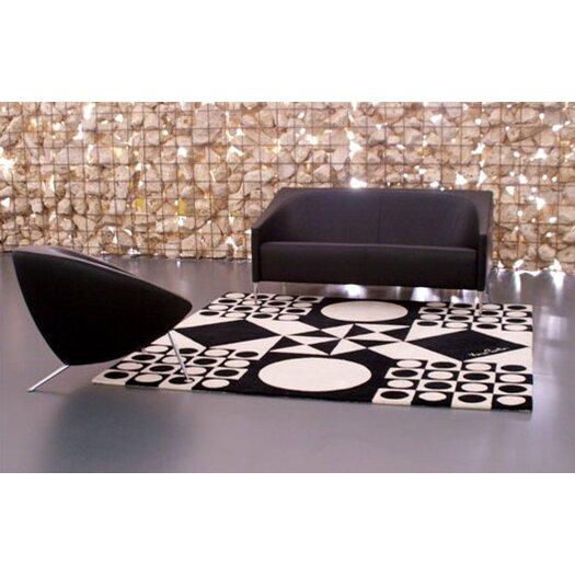 Designer Carpets Verner Panton VP IV Black/White Area Rug