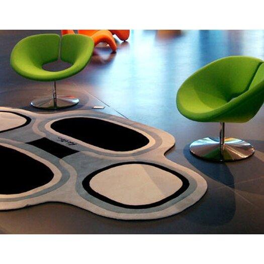 Designer Carpets Karim Rashid KR TS BW Grey/Black Area Rug