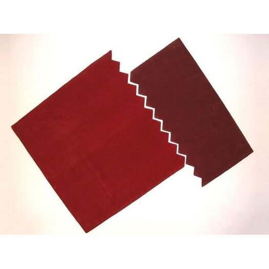 Designer Carpets Arik Levy Zig Zag Carpet Red/Burgundy Outdoor Area Rug