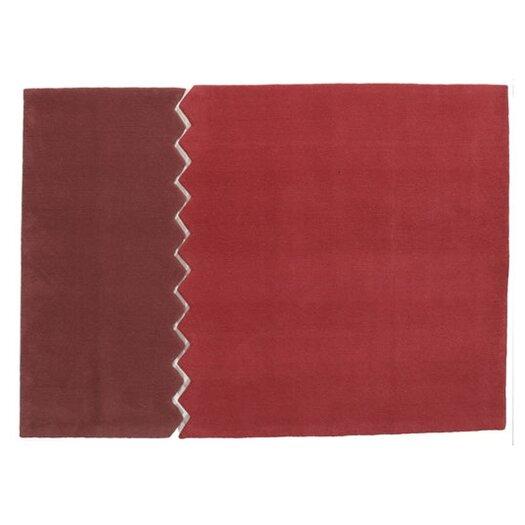 Arik Levy Zig Zag Carpet Red/Burgundy Outdoor Area Rug