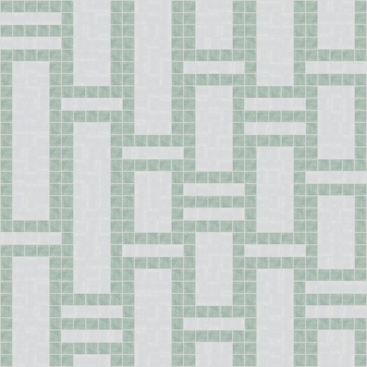 "Mosaic Loft Urban Essentials Modern Bamboo 3/4"" x 3/4"" Glass Glossy Mosaic in Placid Turquoise"