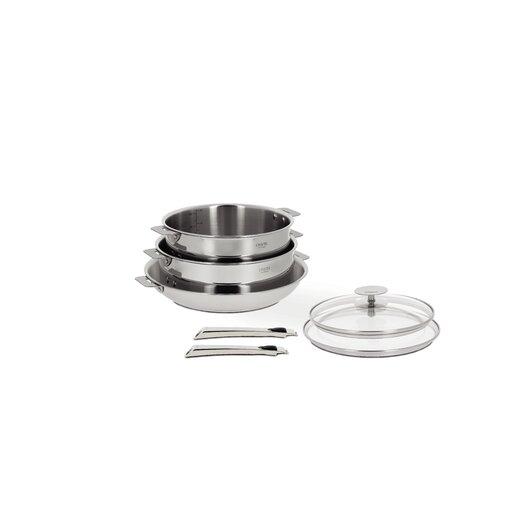 Cristel Casteline 7-Piece Cookware Set with Optional Handle