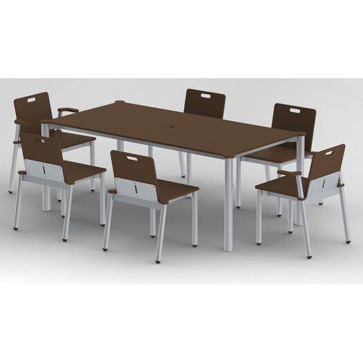 Elan Furniture Bridge II Stacking Dining Arm Chair
