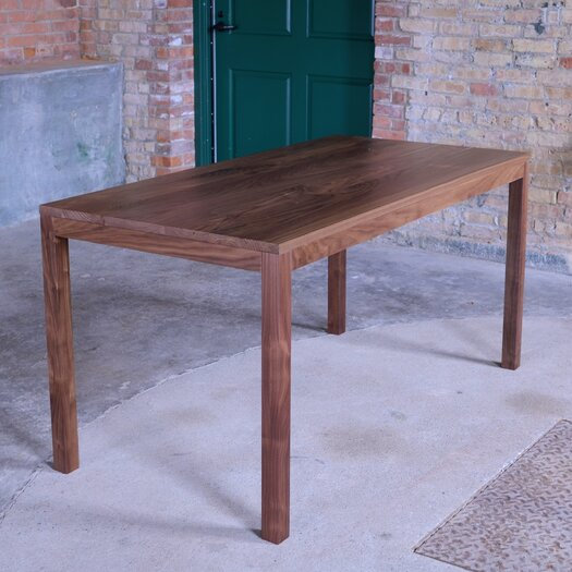 Elan Furniture Loft Parsons Style Solid Wood Dining Table