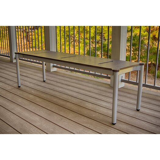 Elan Furniture Bridge II Aluminum Picnic Bench