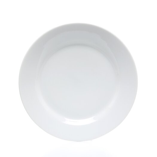 "Ten Strawberry Street Royal White 9"" Lunch Plate"