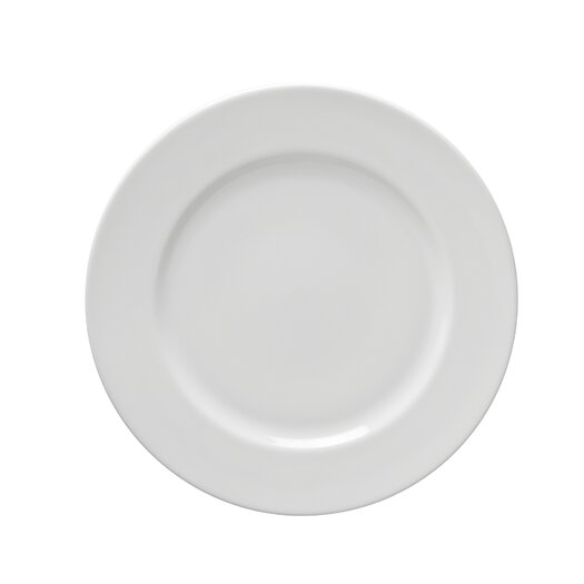 "Ten Strawberry Street Classic White 8"" Salad / Dessert Plate"