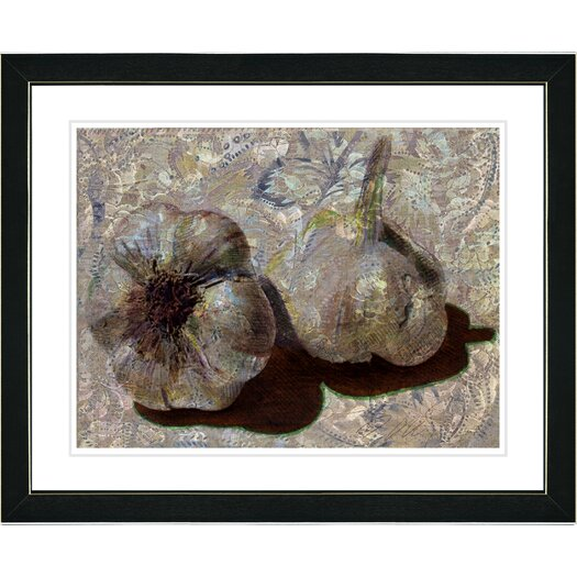 "Studio Works Modern ""Garlic - Beige"" by Zhee Singer Framed Fine Art Giclee Painting Print"