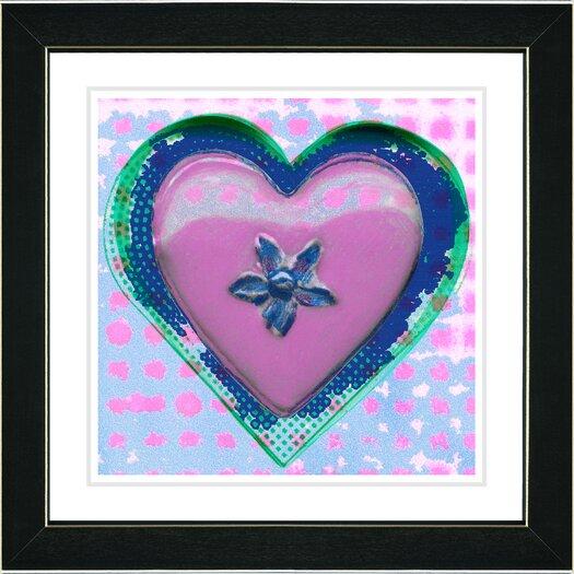 "Studio Works Modern ""Heart"" by Zhee Singer Framed Fine Art Giclee Painting Print"