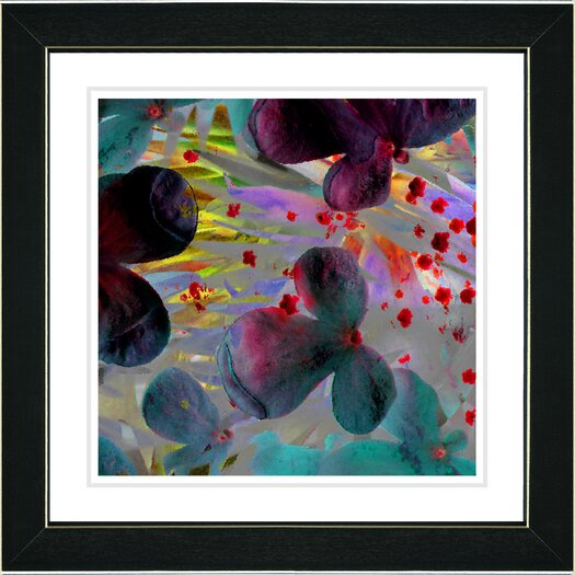 "Studio Works Modern ""Party Flower"" by Zhee Singer Framed Fine Art Giclee Painting Print"