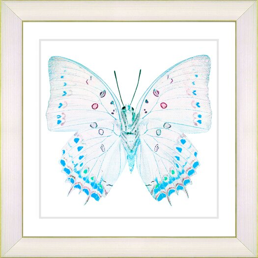"Studio Works Modern ""White Butterfly"" by Zhee Singer Framed Fine Art Giclee Painting Print"
