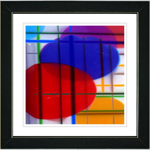 """Studio Works Modern """"Closed Circuit"""" by Zhee Singer Framed Fine Art Giclee Painting Print"""