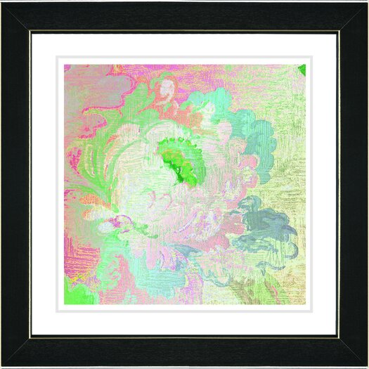 "Studio Works Modern ""Pastel Green Iphigenia"" by Zhee Singer Framed Fine Art Giclee Painting Print"