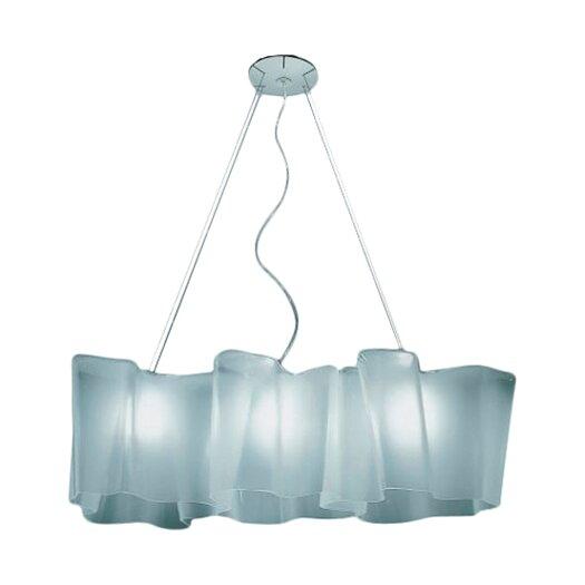 Artemide Logico 3 Light Triple Linear Suspension with Incandescent Bulbs