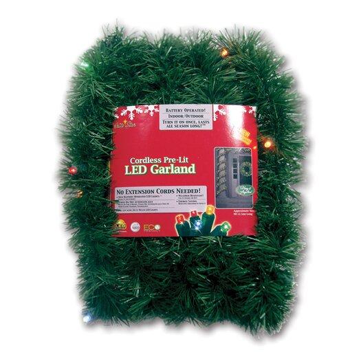 Brite Star Micro Mini 35 Light Lighted LED Pine Garland