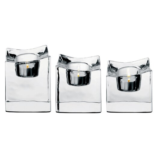 Orrefors Polaris Crystal Votives