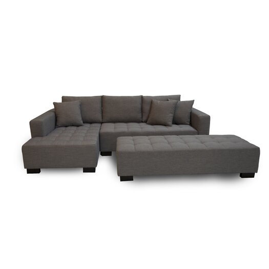 Fit Left Sectional with Ottoman