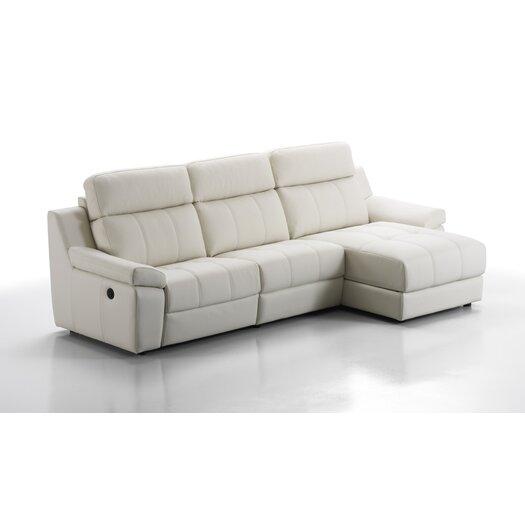 Eurosace Luxury Saray Sectional - Top Grain Italian Leather