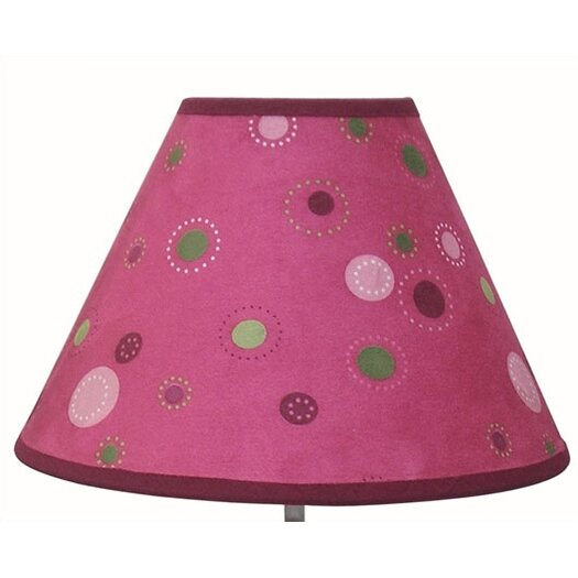 "Lambs & Ivy Raspberry Swirl 12"" H Table Lamp with Empire Shade"