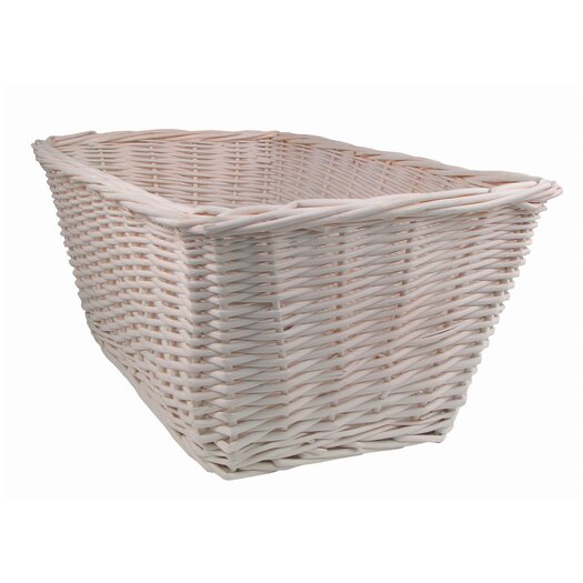Lambs & Ivy Madison Avenue Baby Basket in White