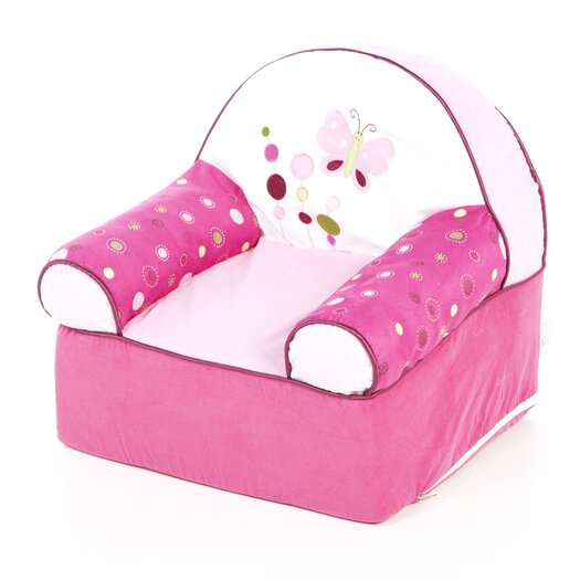 Lambs & Ivy Raspberry Swirl Kid's Recliner