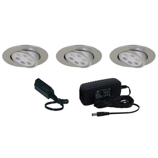 Jesco Lighting Slim Disk LED 3 Light Adjustable Round Kit
