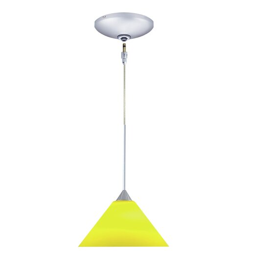 Jesco Lighting Selma 1 Light Pendant and Canopy Kit