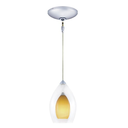 Jesco Lighting Zara 1 Light Pendant and Canopy Kit